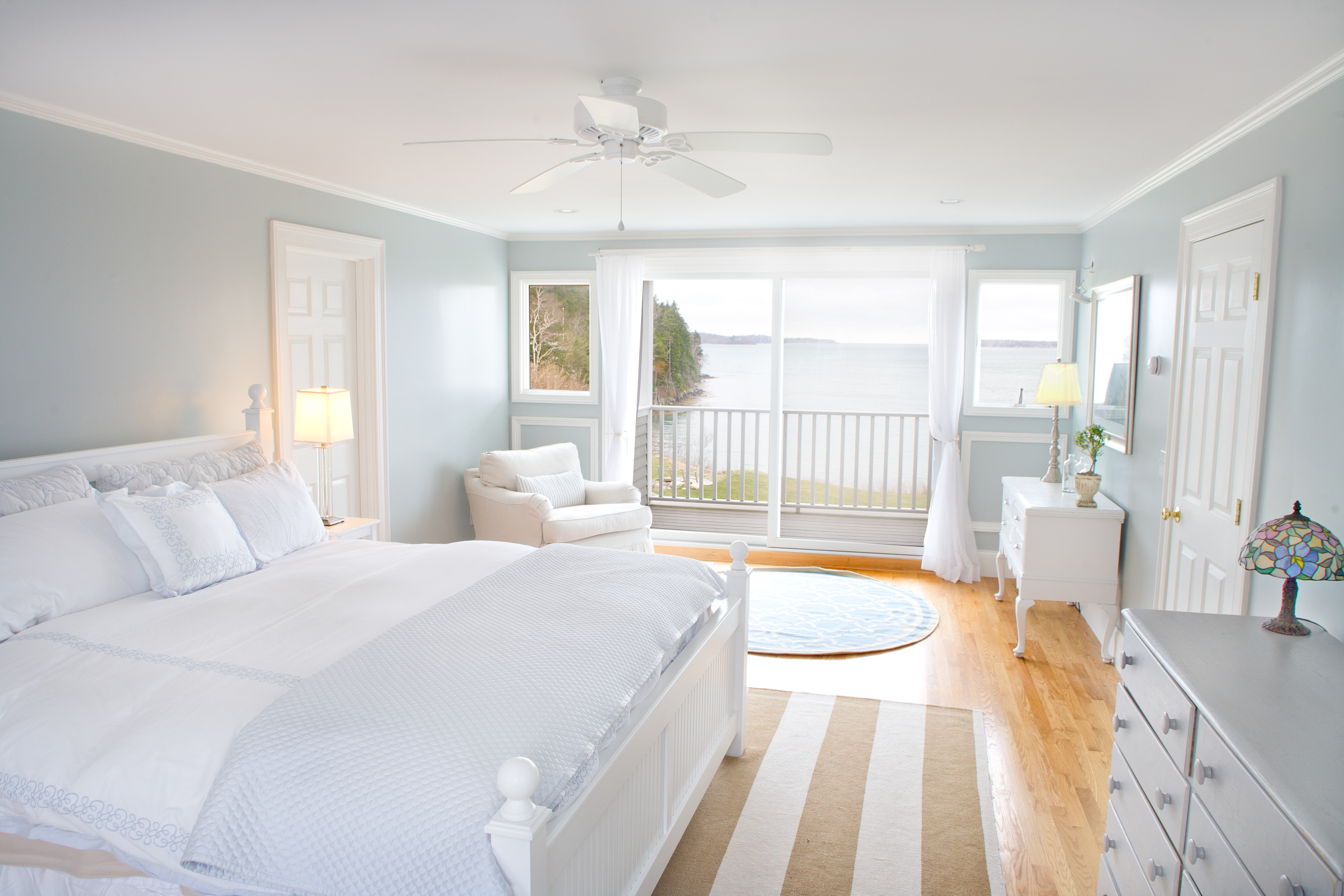 Summer coastal maine bedroom maine living magazine - White bed design ideas ...